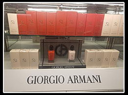 Giorgio Armani Incase Display